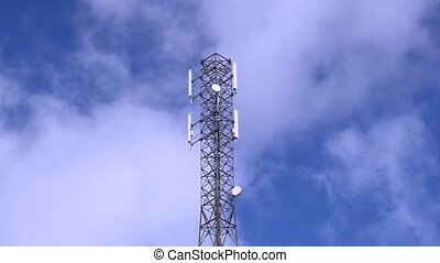 GSM Antenna on a blue sky background