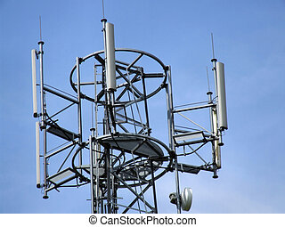 GSM cell tower top - Mobile telephony & telecommunication -...