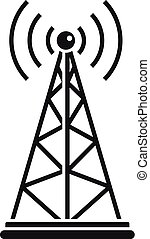 Gsm tower icon, simple style - Gsm tower icon. Simple...