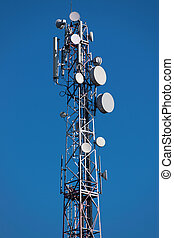 GSM tower with aerials - GSM tower with a series of aerials...