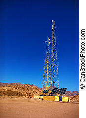 gsm towers in mountains - gsm towers with solar panels in...