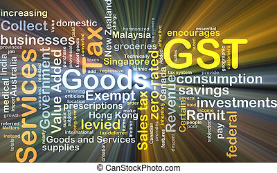 GST background concept glowing