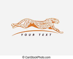 guépard, symbole