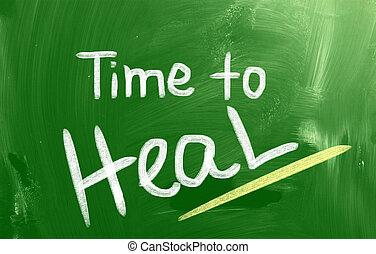 guérir, concept, temps