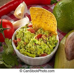 Guacamole dip - Ingredients for avocado guacamole dip and ...