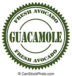 Guacamole-green stamp