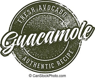 Guacamole Menu Stamp Design