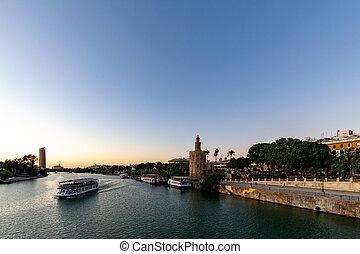 Guadalquivir in Seville - Sunset over the Guadalquivir river...