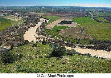 Guadalquivir meander - Landscape seen from Almodovar Castle...