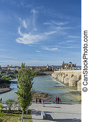 Guadalquivir river in Cordoba, Andalusia, Spain. - CORDOBA, ...
