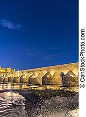 Guadalquivir river in Cordoba, Andalusia, Spain.