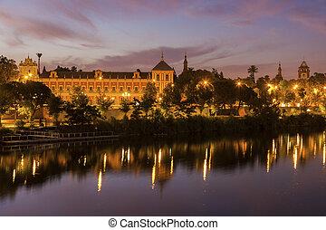 Guadalquivir River in Seville. Seville, Andalusia, Spain.