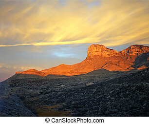 guadalupe, mtn, solopgang