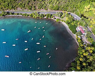 Guadeloupe drone aerial view