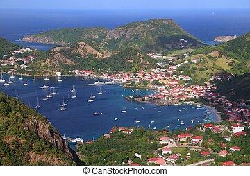 Guadeloupe landscape - Les Saintes islands. Terre de Haut bay.