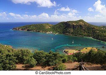 Guadeloupe - Les Saintes islands. Terre de Haut island landscape.