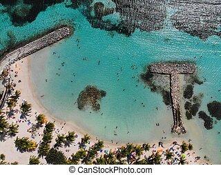 Guadeloupe drone aerial view - Sainte Anne