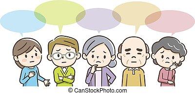guaio, possedere, illustrazione, persone