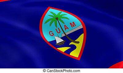 guamanian, bandeira, vento