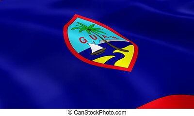 guamanian, vlag, wind