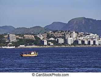 Guanabara Bay - Brazil, State of Rio de Janeiro, View over...