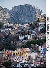 Guanajuato, Mexico. - Guanajuato, Mexico, with mountains in ...