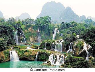 guangxi, detian, cross-border, cachoeira
