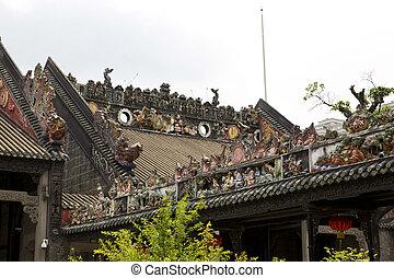 Guangzhou, China - Guangzhou, ancient memorial of the Chen...