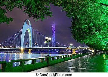Guangzhou China River Skyline