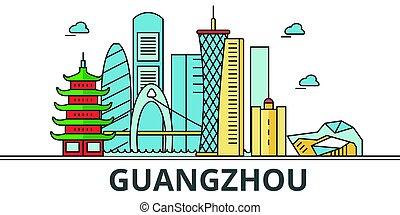 Guangzhou city skyline.
