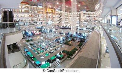 Visitors walk in Furniture Trading Centre Louvre - GUANGZHOU...
