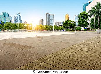 guangzhou, paisaje urbano