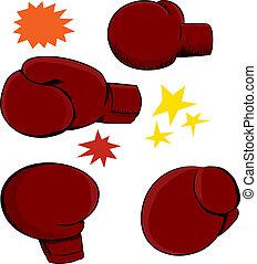 guante de boxeo, ángulos