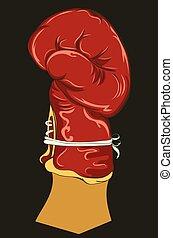 guante de boxeo, diseño