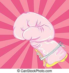 guanti, rosa, pugilato
