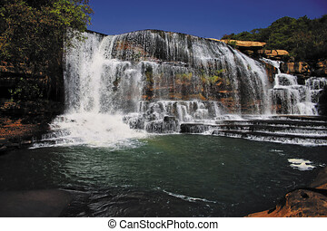 guara, wasserfall, in, brasilien