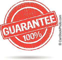 Guarantee 100% grunge seal stamp logo