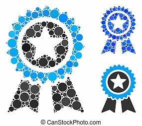 Guarantee Composition Icon of Circles