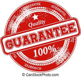 guarantee grunge stamp vector