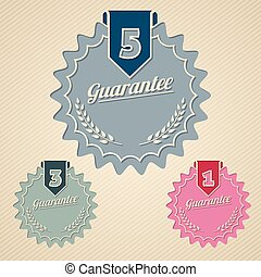 Guarantee icon set flat style