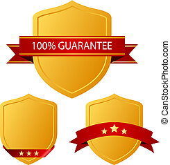 Guarantee icons - Guarantee shield icons set