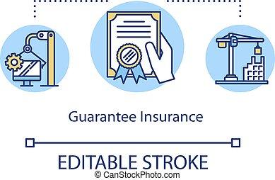 Guarantee insurance concept icon