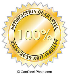 Guarantee label - Satisfaction guarantee label, vector...