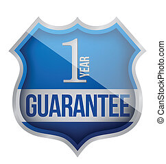Guarantee label shield illustration