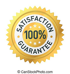 Vector illustration of a satisfaction guarantee label
