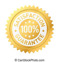 Guarantee label - Vector illustration of a satisfaction ...