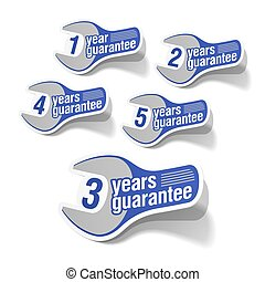 Guarantee labels - Vector illustration of guarantee labels