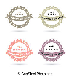 guarantee labels with retro design