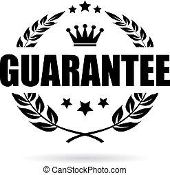 Guarantee laurel vector icon - Guarantee laurel wreath...
