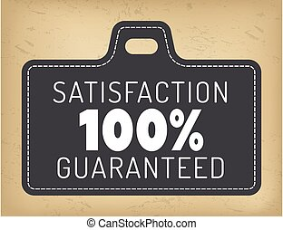Guarantee Logotype 100 Percent Satisfaction Vector